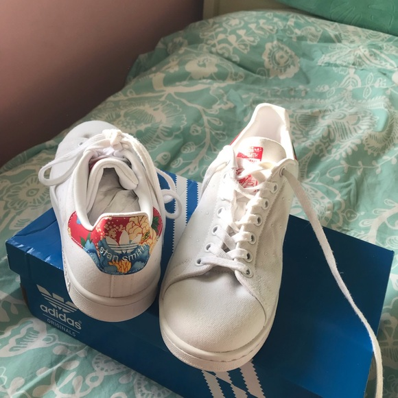 Limited edition adidas Stan Smith floral shoes